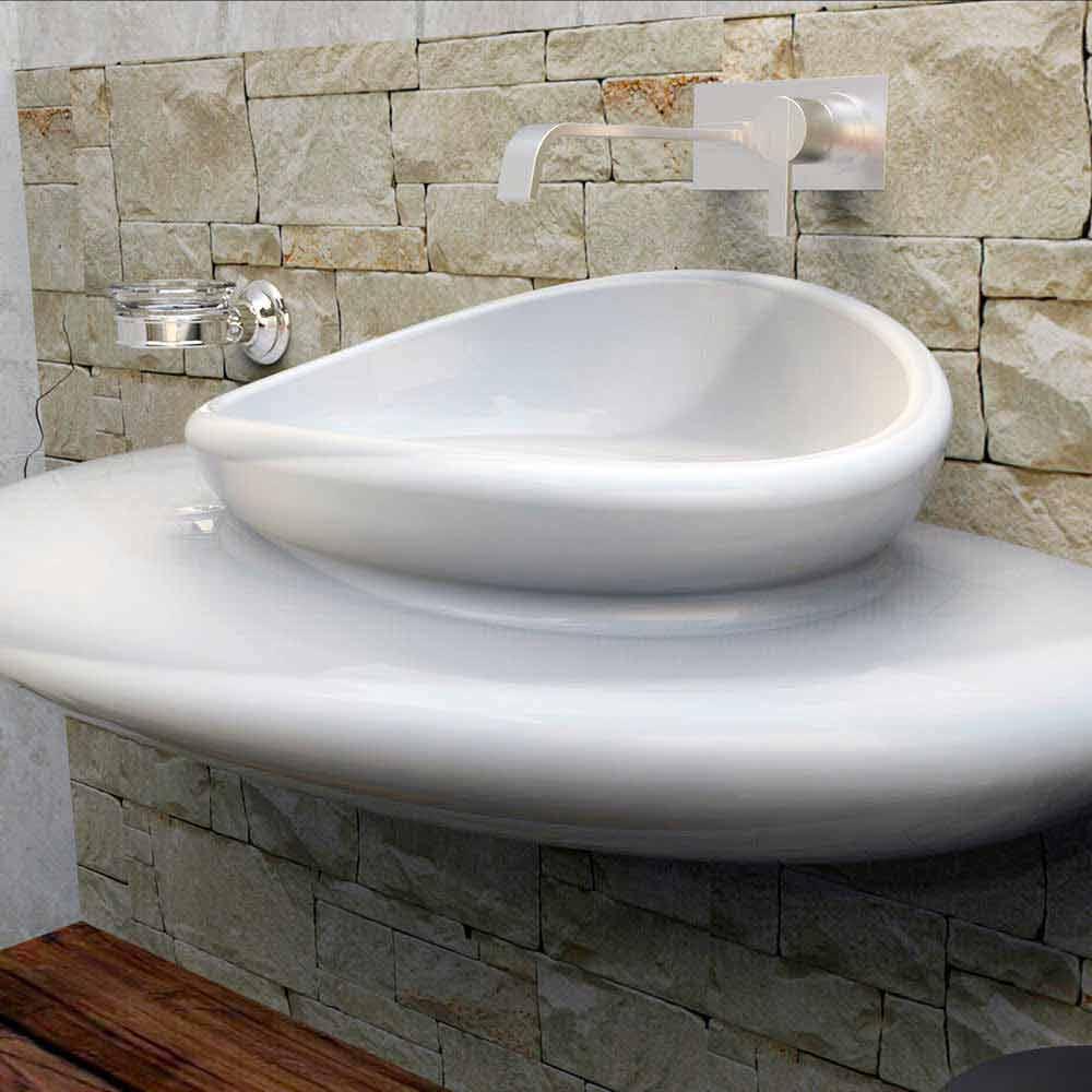 Lavabo suspendu de design moderne fait en italie stone for Lavandini bagno design