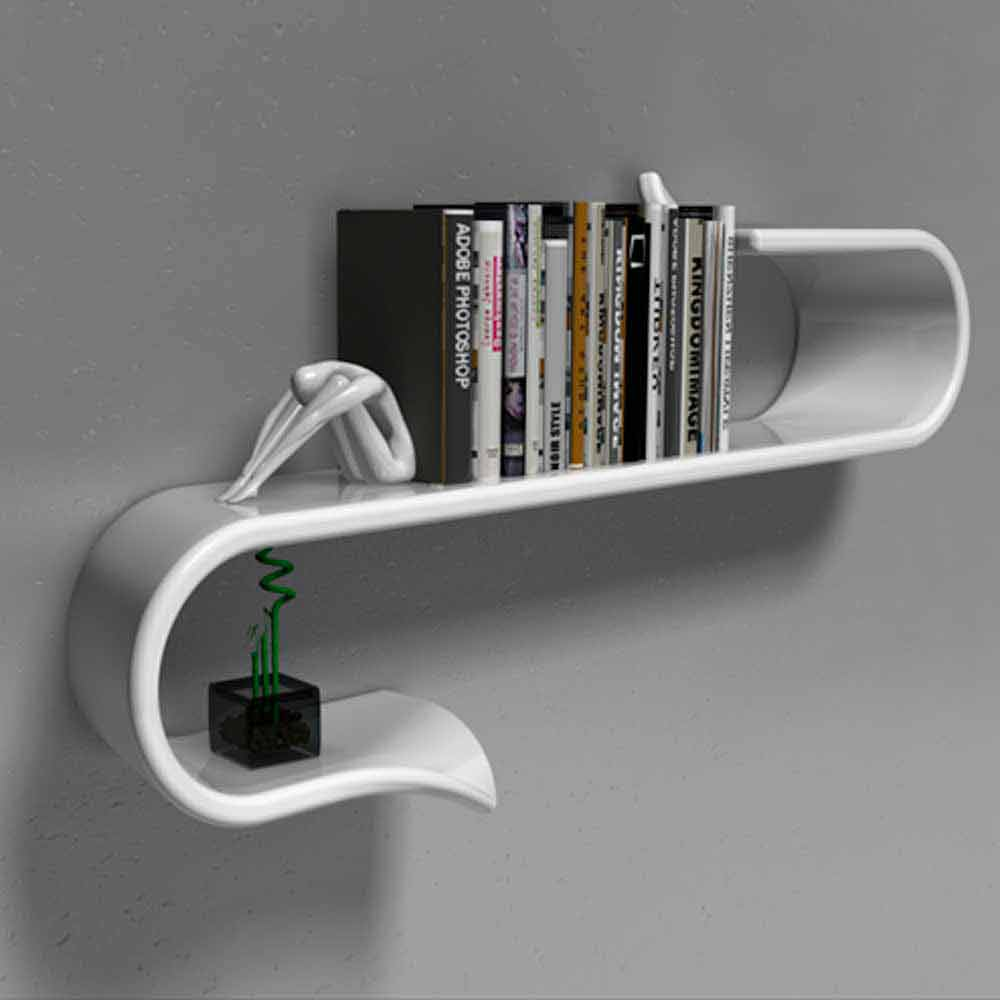 Tag re design moderne waveshelf viadurini design made in - Idees detageres echelle modernes design ...
