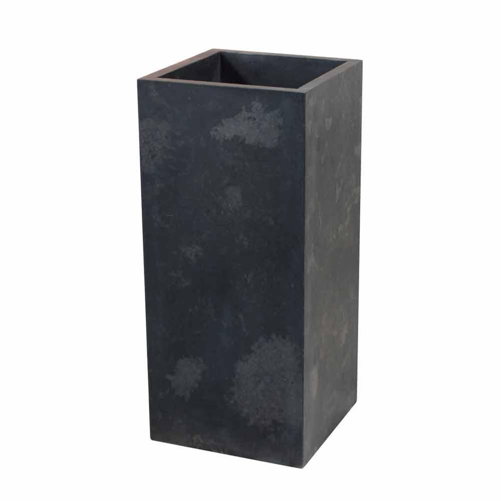 lavabo colonne balik de cube noir en pierre naturelle salle de bain. Black Bedroom Furniture Sets. Home Design Ideas