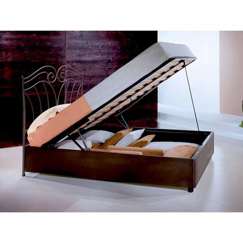 lit une place et demie en fer forg nettuno fait la main en italie. Black Bedroom Furniture Sets. Home Design Ideas