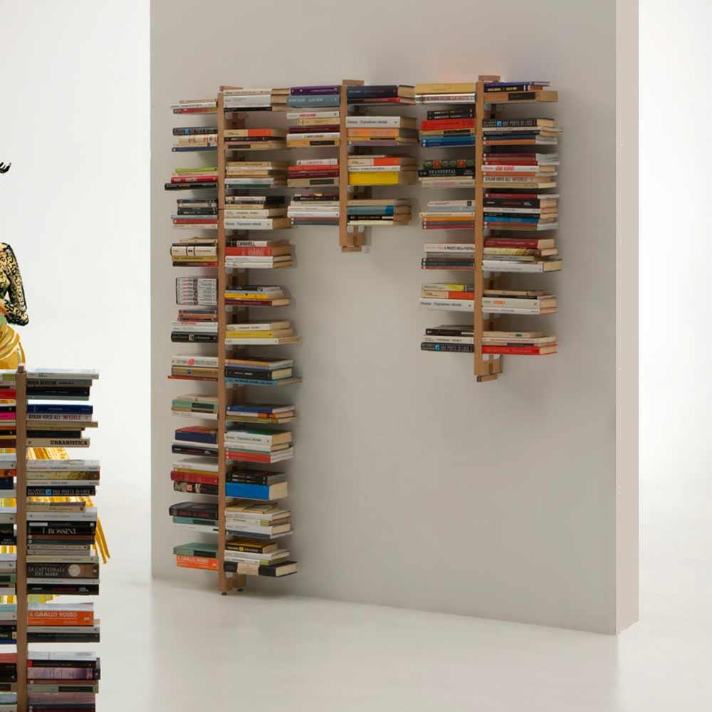 biblioth que murale de design moderne zia bice. Black Bedroom Furniture Sets. Home Design Ideas