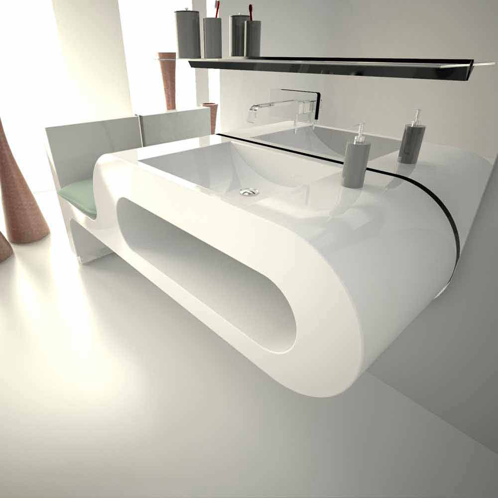 lavabo de design moderne blanc noir ou bordeaux garfish. Black Bedroom Furniture Sets. Home Design Ideas