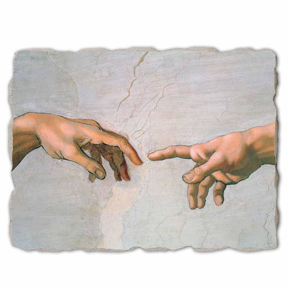 Fresque grande La Création d'Adam de Michel-Ange (détail)