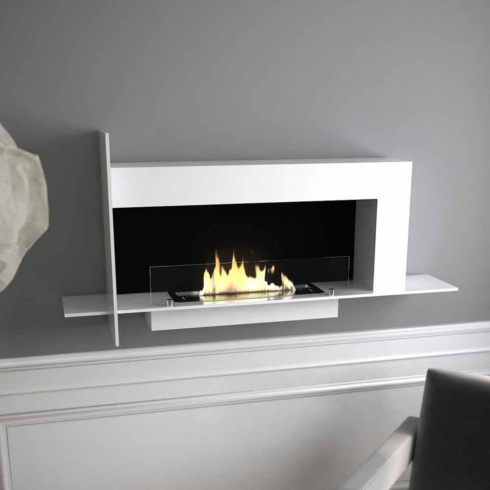chemin e au bio thanol murale design modern mod le baudelaire. Black Bedroom Furniture Sets. Home Design Ideas