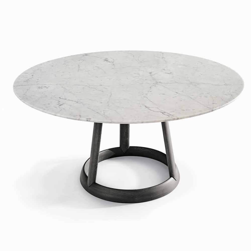 Bonaldo Greeny table ronde de design italien plateau marbre Carrara