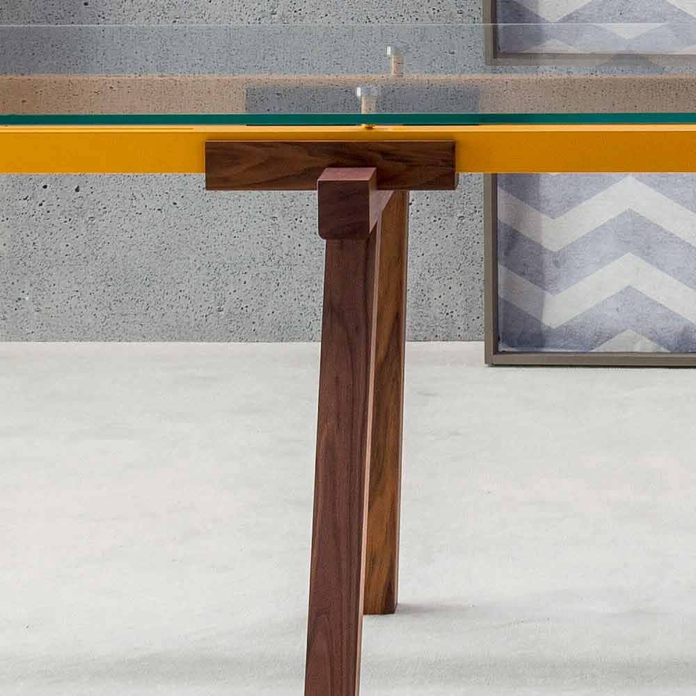 Table Extensible Design Italien bonaldo tracks table de design italien extensible cristal et bois