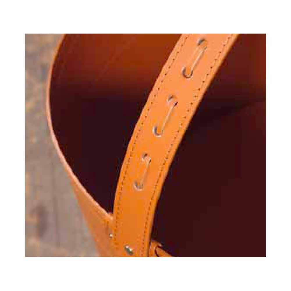 Porte b ches design en cuir roulettes milo made in italy - Sac a buches design ...