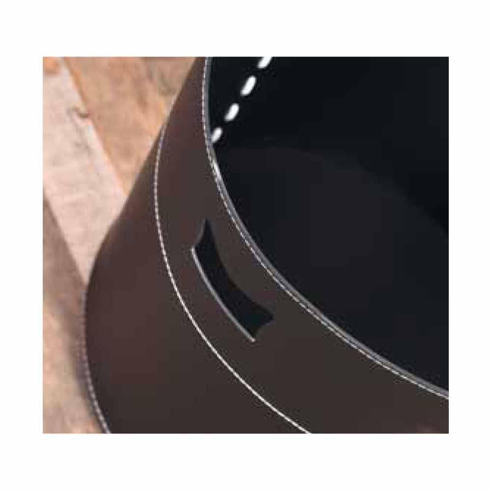 Porte b ches design en cuir roulettes platone made in italy - Sac a buches design ...