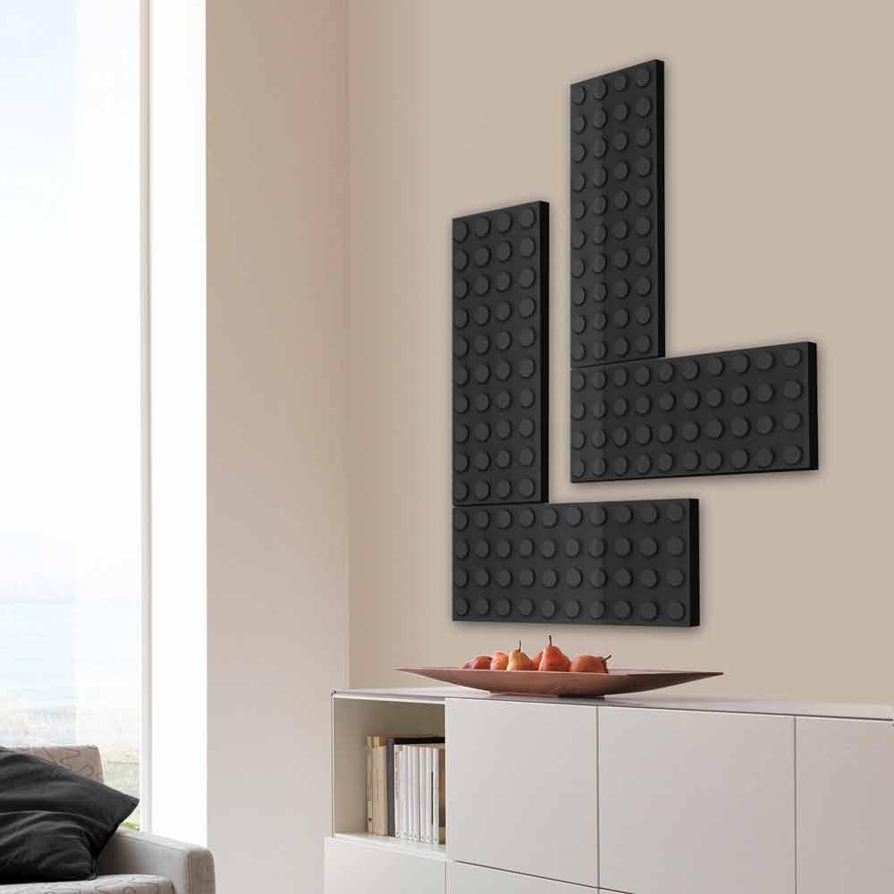 radiateur d coratif lectrique de design moderne brick par scirocco h. Black Bedroom Furniture Sets. Home Design Ideas