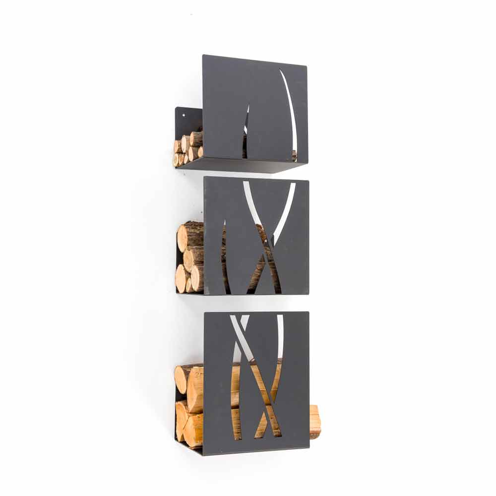 porte b ches mural d 39 int rieur en acier trio caf design made in italy. Black Bedroom Furniture Sets. Home Design Ideas