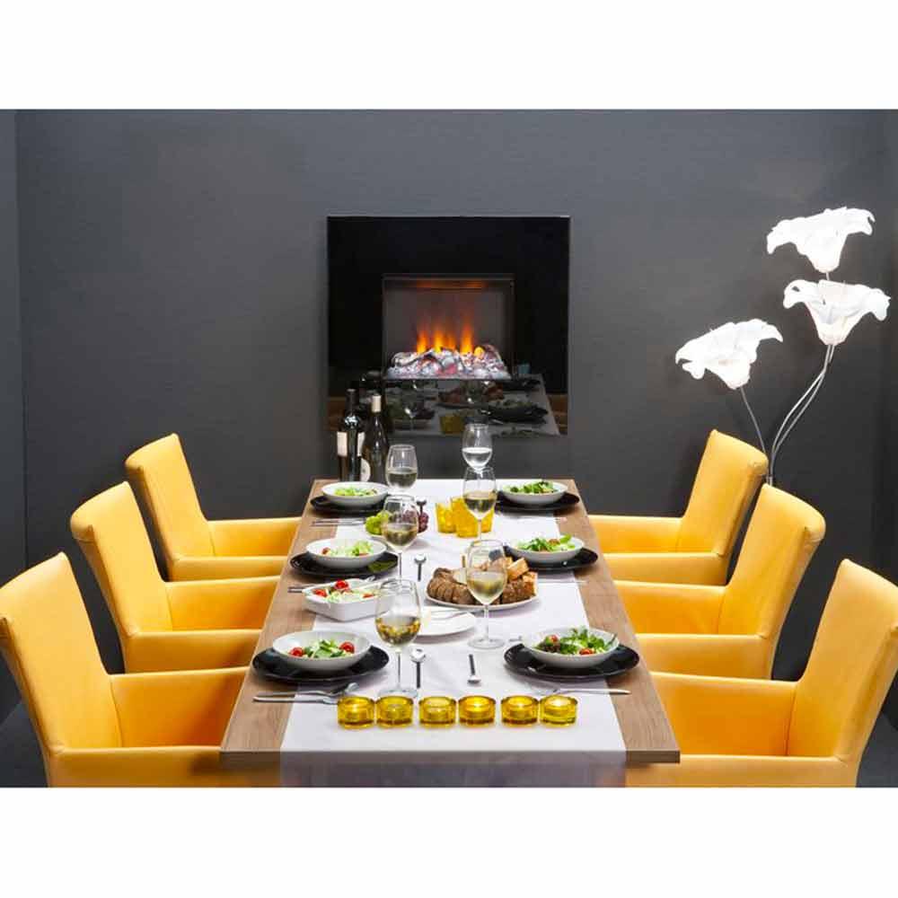 Foyer Electrique Design W Effet Flammes : Cheminée électrique murale cardiff télécommande et