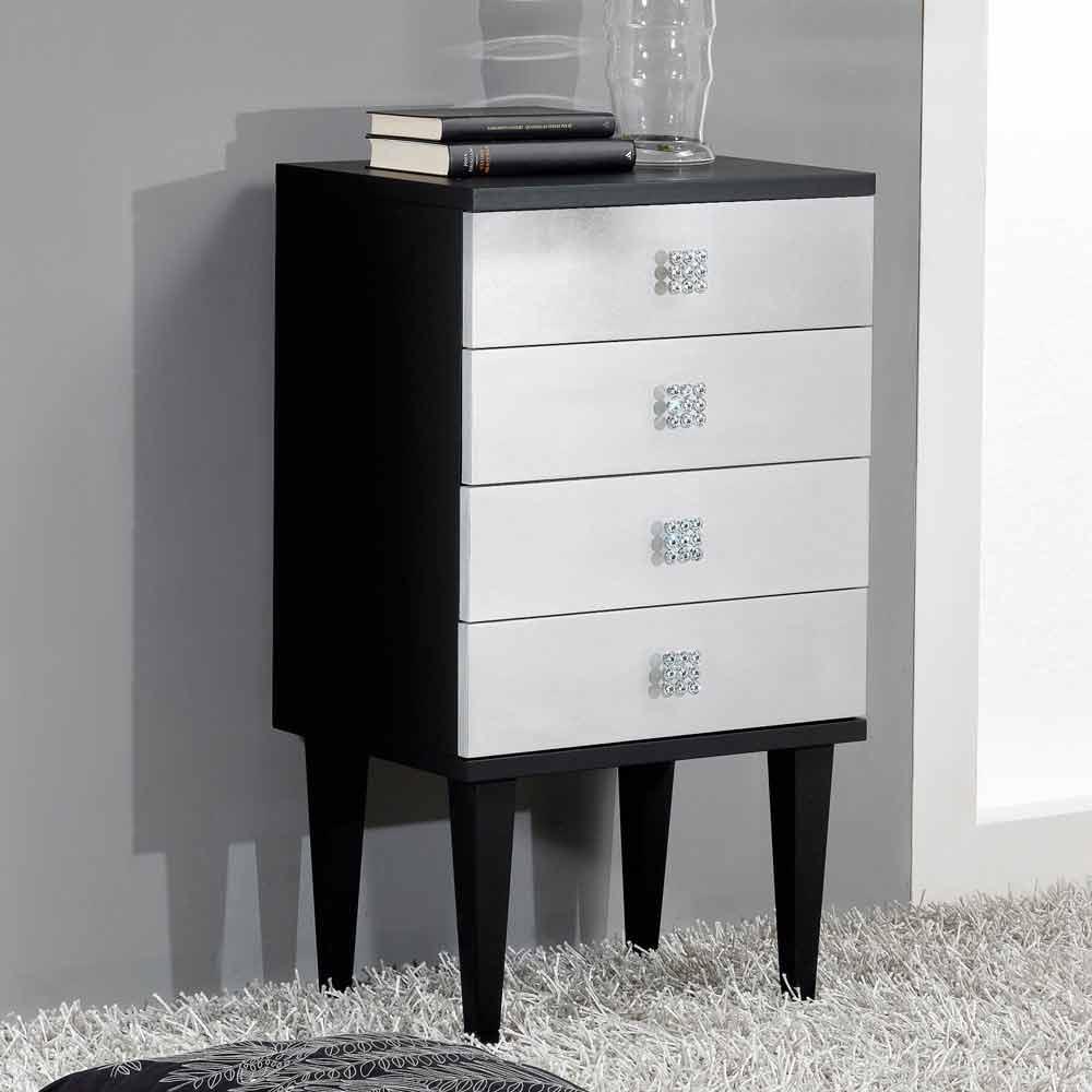 commode de design en bois noir agent 4 tiroirs fait la main etty. Black Bedroom Furniture Sets. Home Design Ideas