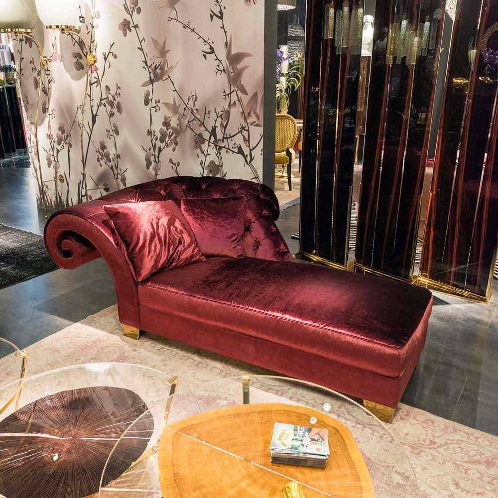 Chaise Longue Classique En Tissu 100 Faite En Italie Basco