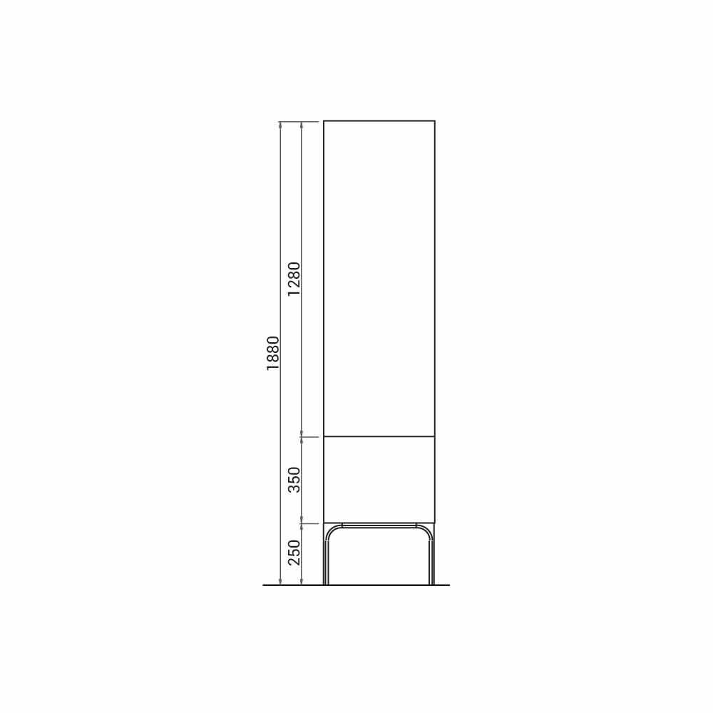 Meuble de salle de bain en bois amanda avec 2 portes for Meuble salle de bain avec porte