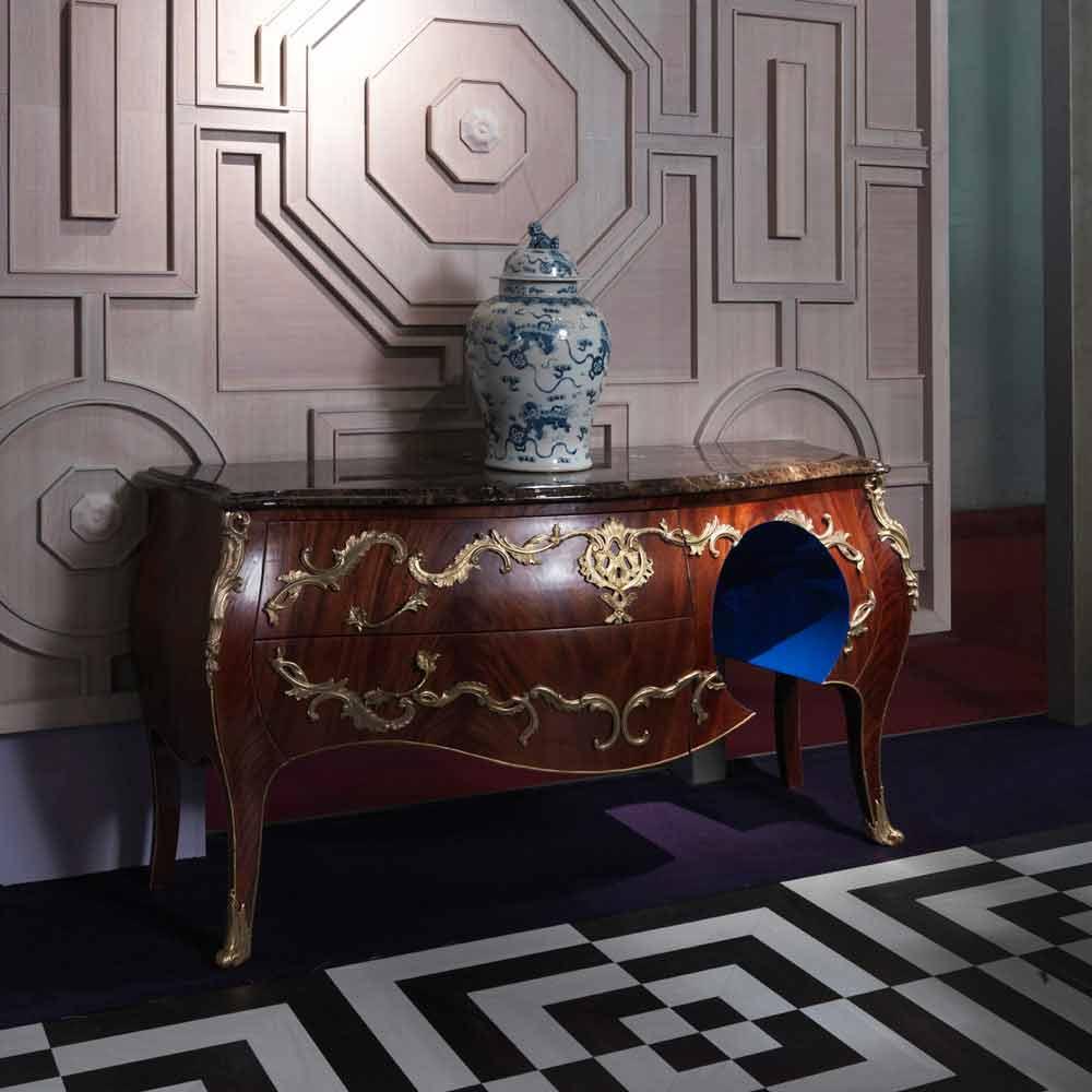 Commode en marbre d corations en laitons produit en for Marbre decoration