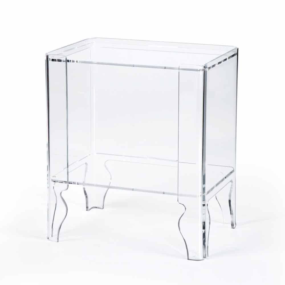 Table De Nuit Moderne Methacrylate Transparent Epaisseur 8 Mm Marc