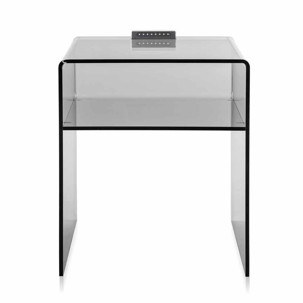 table de chevet fum limineuse led adelia faite en italie chevets commodes et cabinets. Black Bedroom Furniture Sets. Home Design Ideas