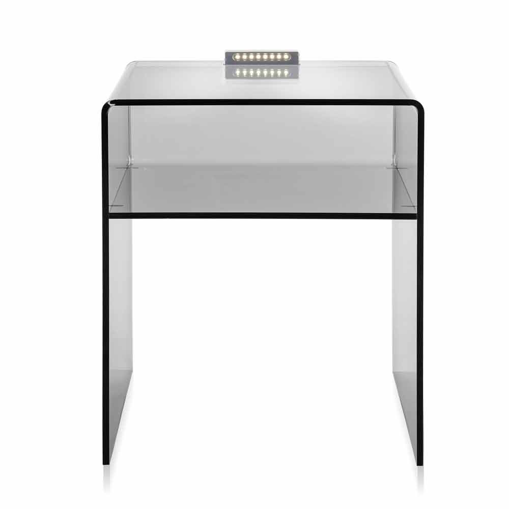 table de chevet fum limineuse led adelia faite en italie chevets commodes et cabinets. Black Bedroom Furniture Sets. Home Design Ideas