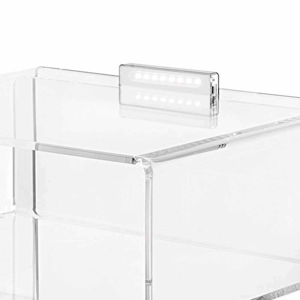 table de chevet transparente lumineuse led adelia. Black Bedroom Furniture Sets. Home Design Ideas