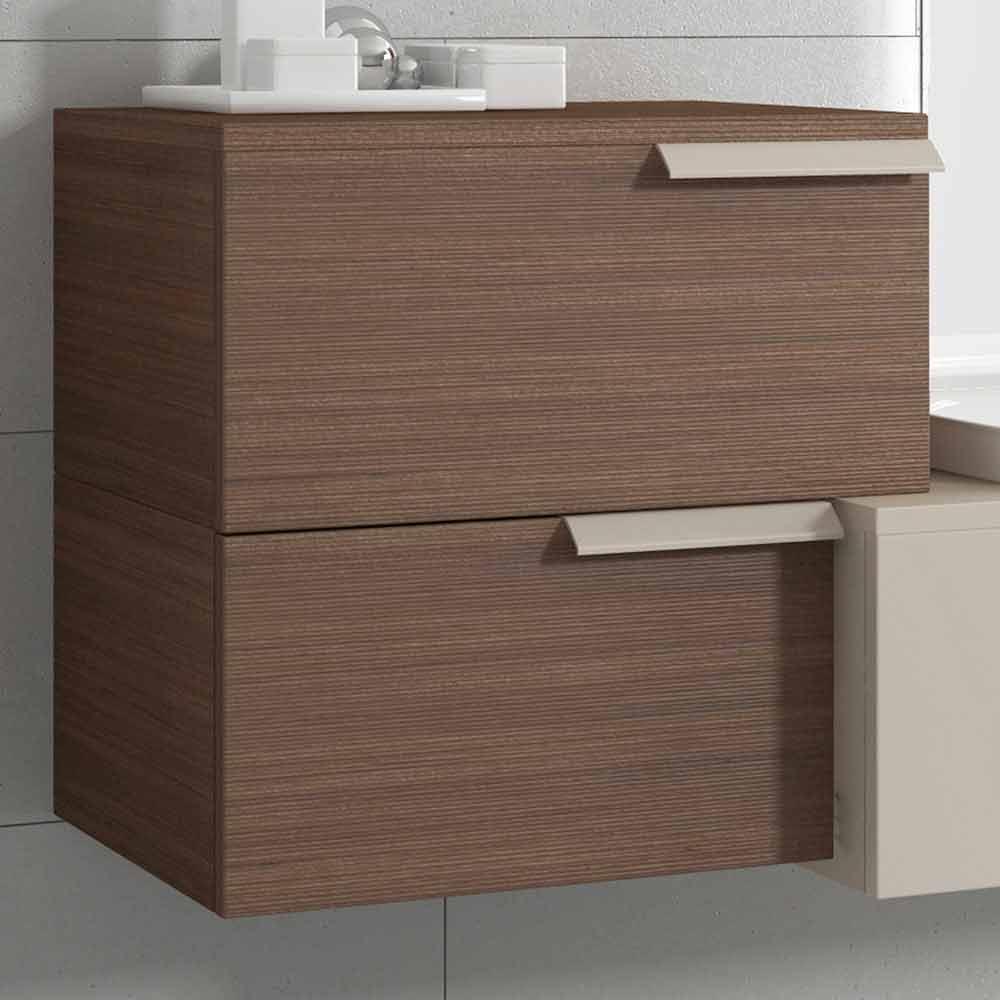 Composition de conception de meubles de salle de bain suspendus happy wood laqu happy - Conception salle de bain ...