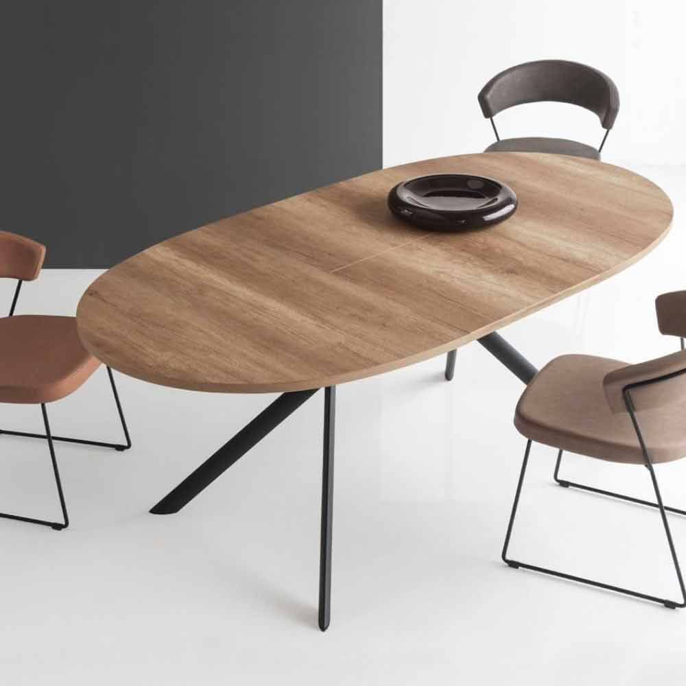 Connubia calligaris giove table ovale extensible en bois for Tavolo ovale allungabile