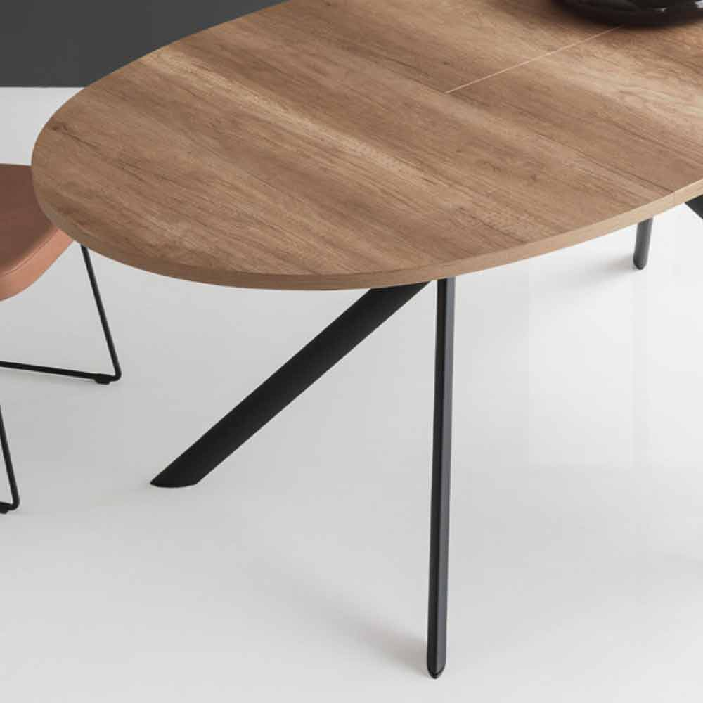 connubia calligaris giove table ovale extensible en bois. Black Bedroom Furniture Sets. Home Design Ideas