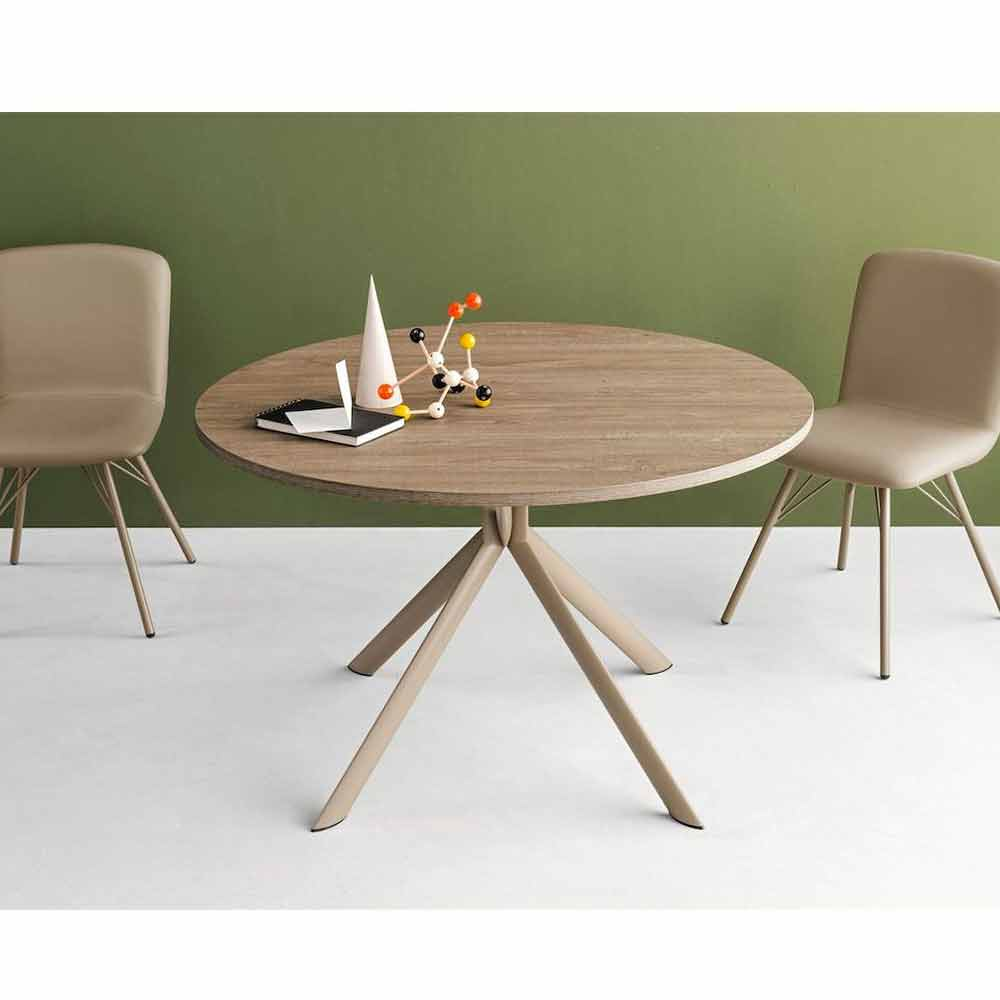 connubia calligaris giove table ronde extensible en bois. Black Bedroom Furniture Sets. Home Design Ideas