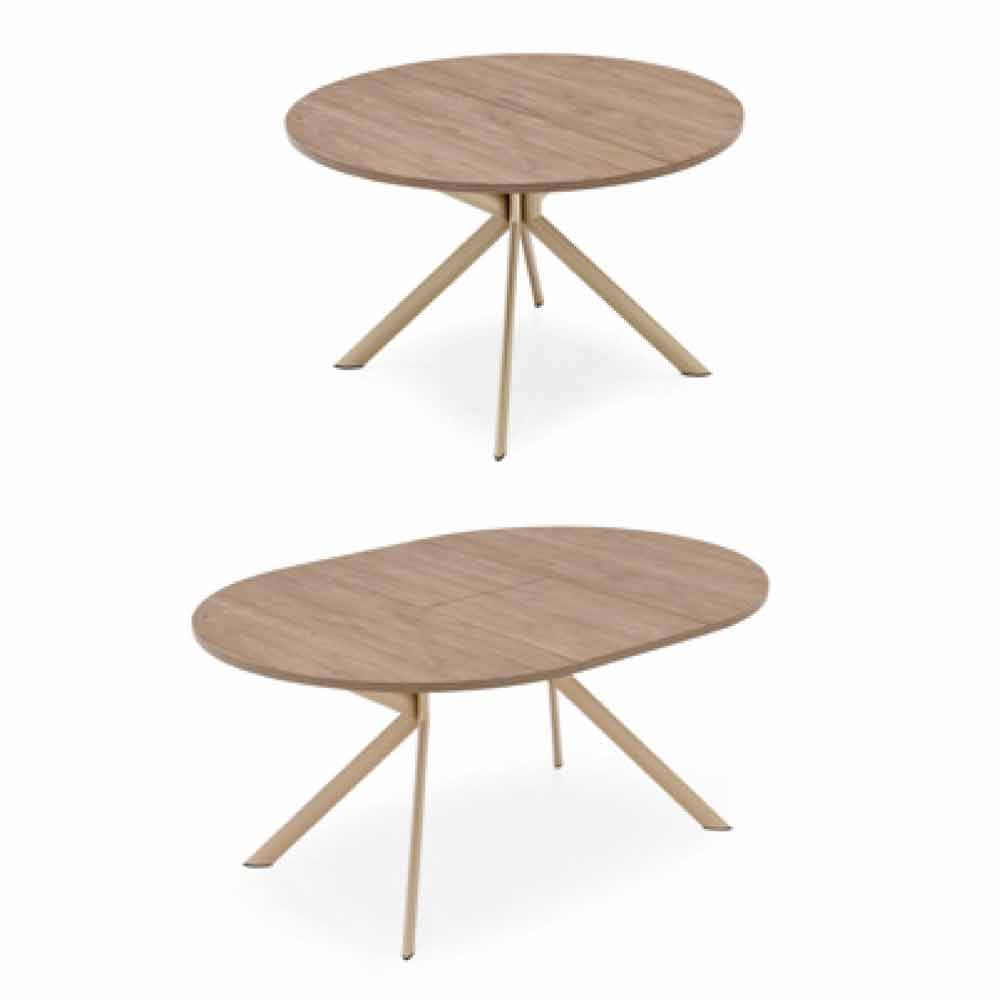connubia calligaris giove table ronde extensible en bois diam tre 120. Black Bedroom Furniture Sets. Home Design Ideas