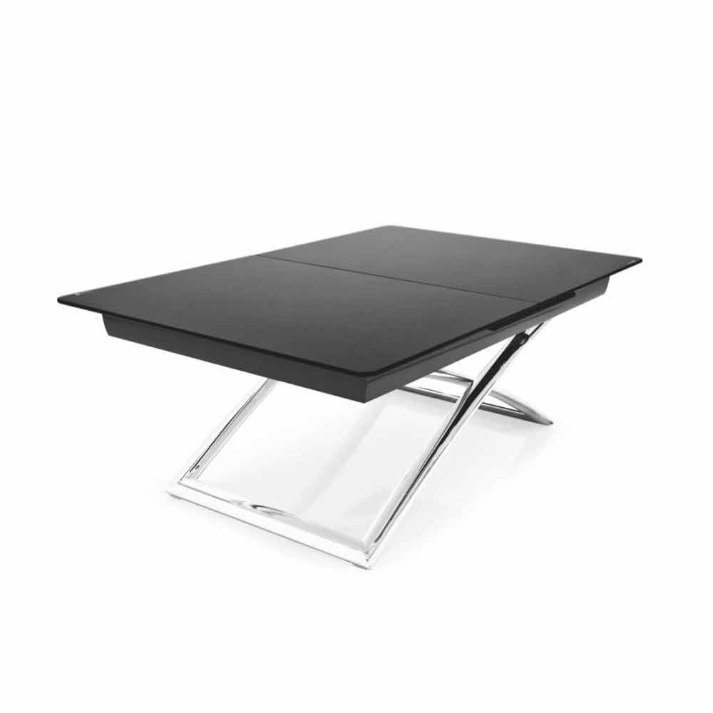 connubia calligaris magic j table basse extensible en verre l115 150cm. Black Bedroom Furniture Sets. Home Design Ideas