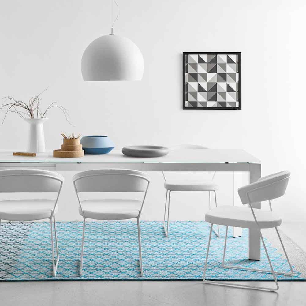 connubia calligaris new york chaise en cuir de design moderne 2 pi ces. Black Bedroom Furniture Sets. Home Design Ideas