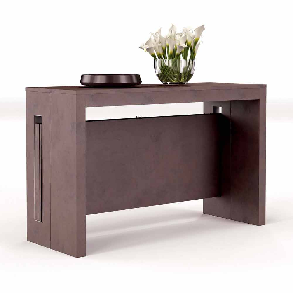 console extensible moderne ussana avec rallonges int gr es. Black Bedroom Furniture Sets. Home Design Ideas