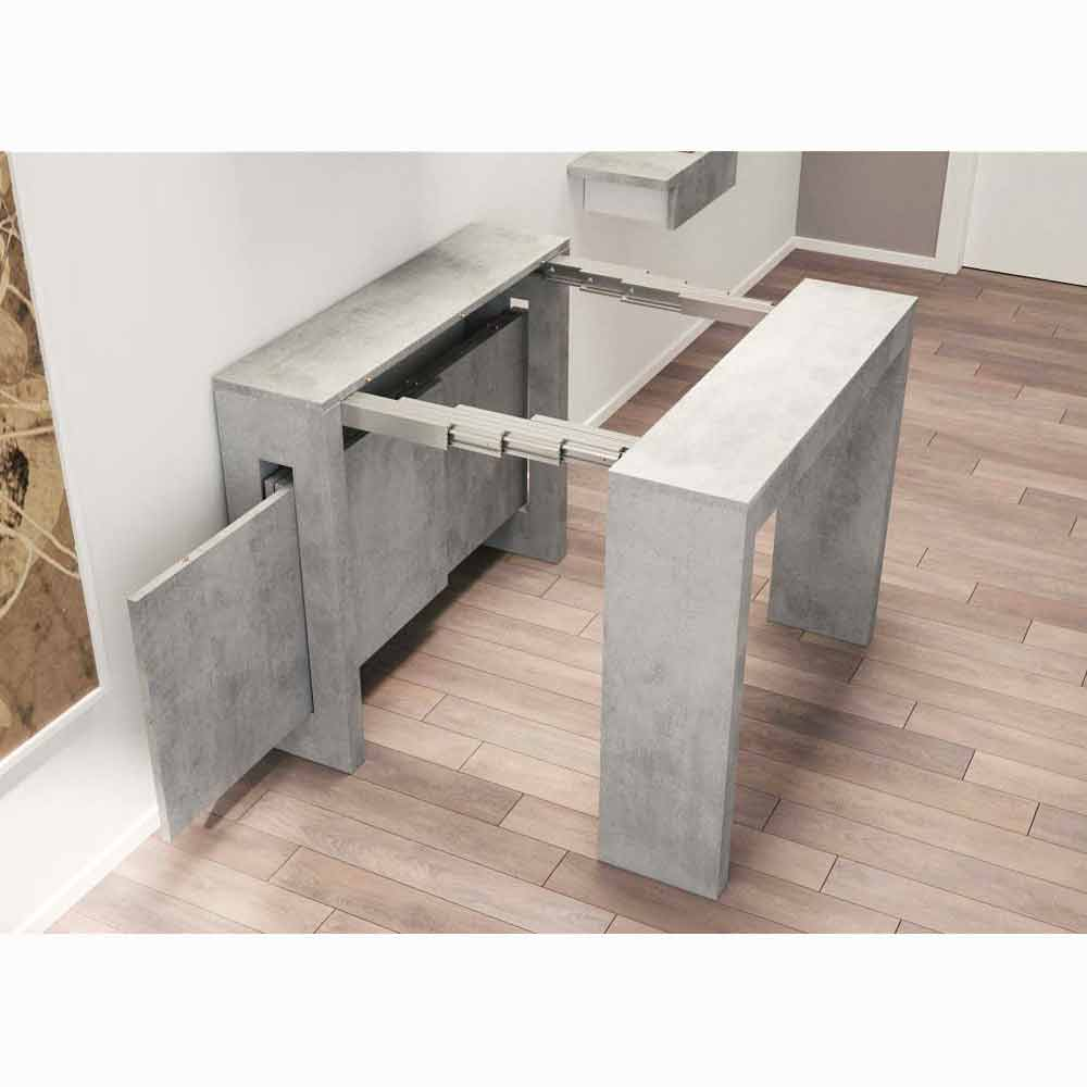 Console extensible moderne ussana avec rallonges int gr es - Table extensible rallonges integrees ...