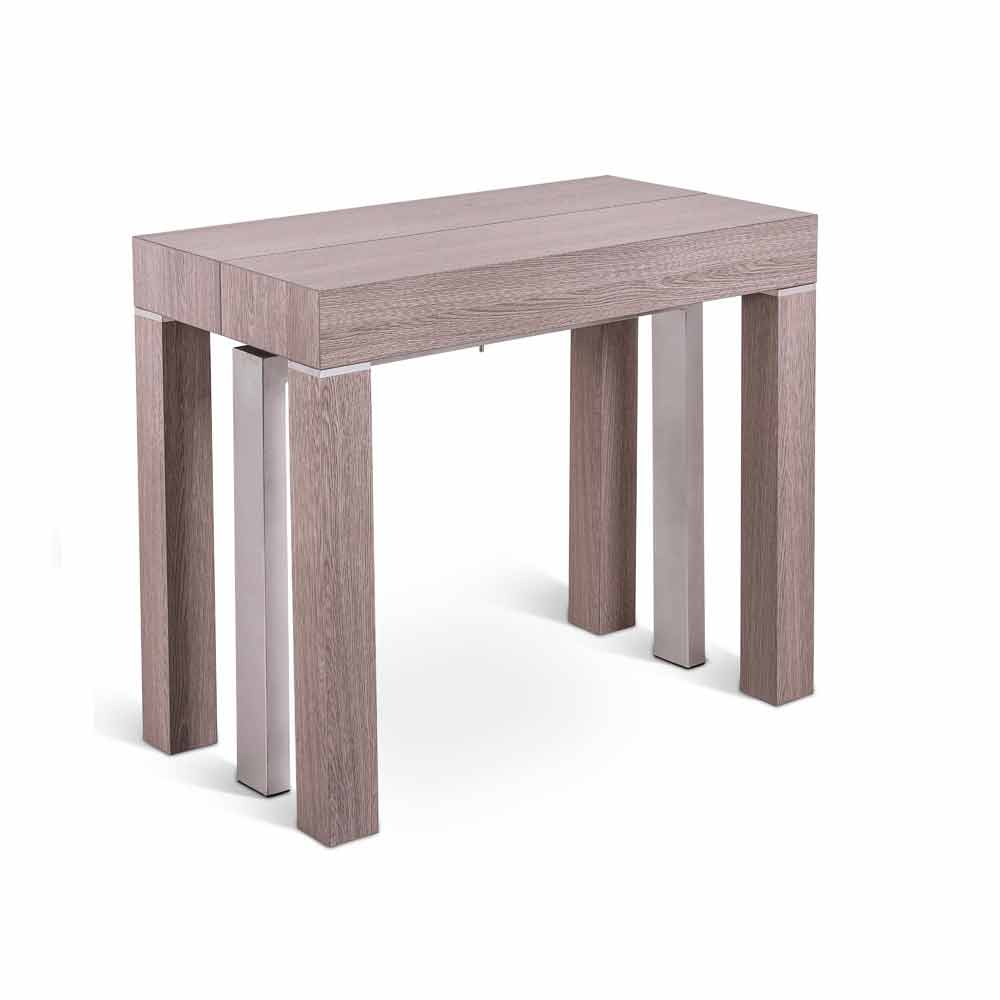 Table console table manger avec rallonge lion de design for Table a manger avec rallonge integree