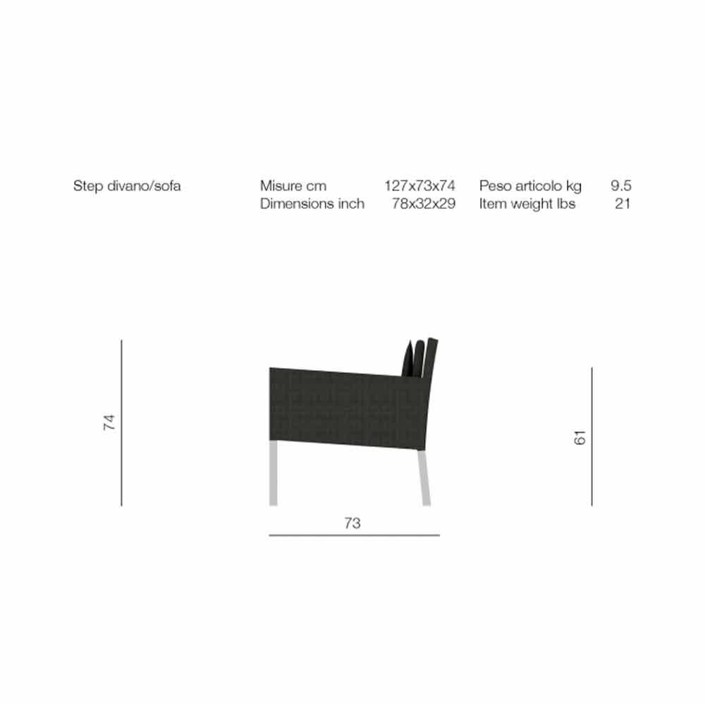 canap de jardin 2 places en aluminium et textil ne step. Black Bedroom Furniture Sets. Home Design Ideas