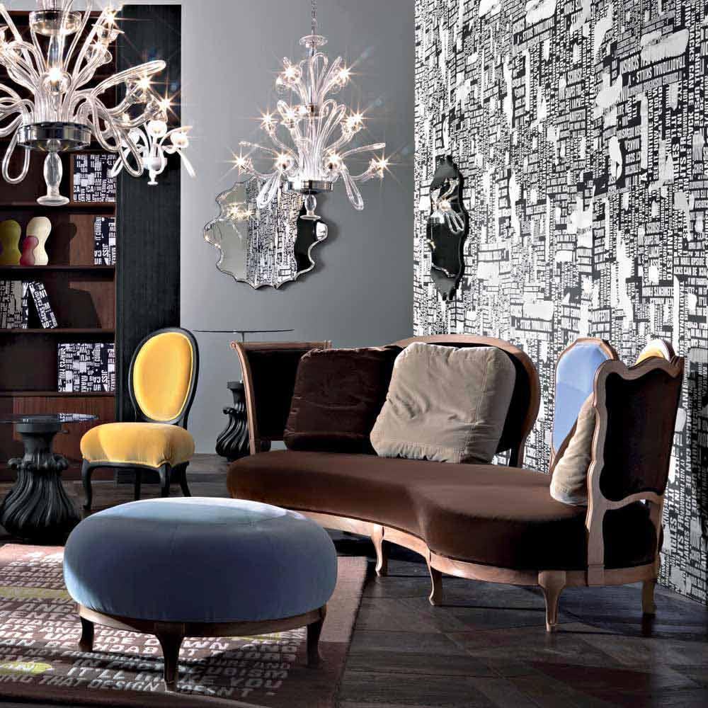 canap design luxe 5 dossier en bois massif produit en italie manno. Black Bedroom Furniture Sets. Home Design Ideas