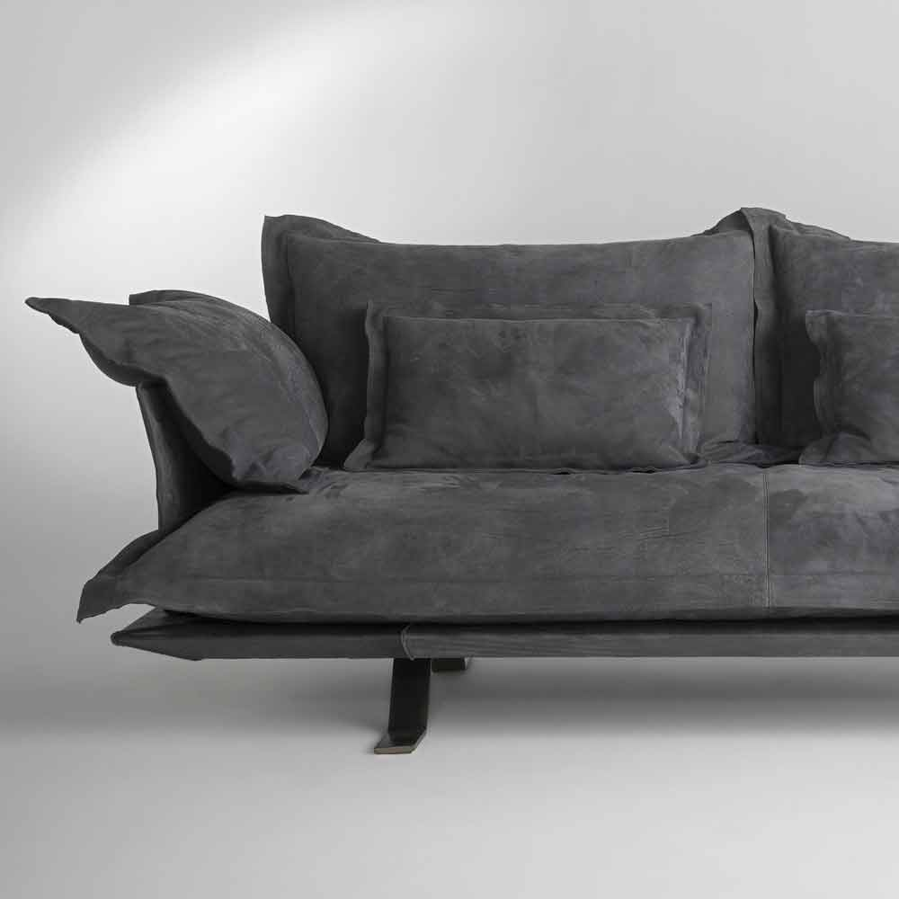 Canap design moderne en cuir shita 170 220 ou 250 cm for Canape moderne design