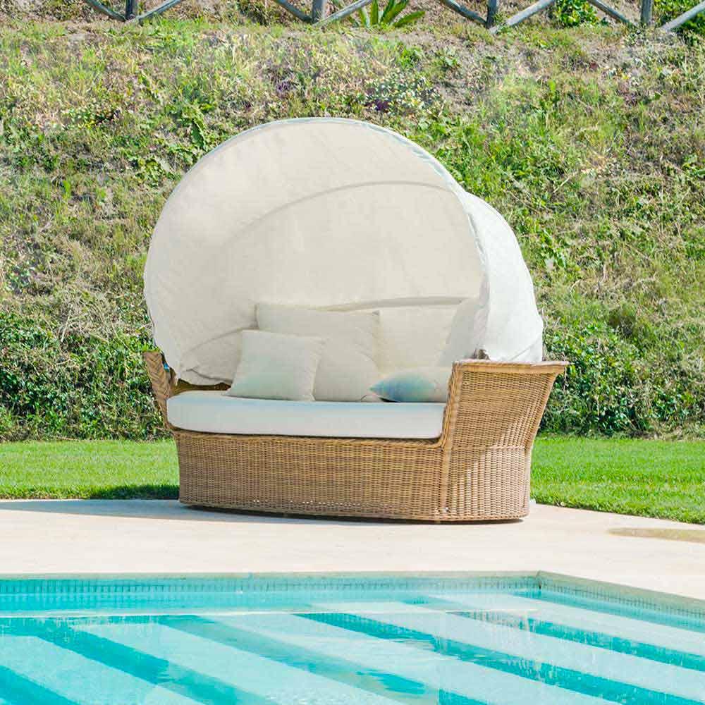 Canap lit de jardin hector tress la main de design moderne for Petit canape de jardin