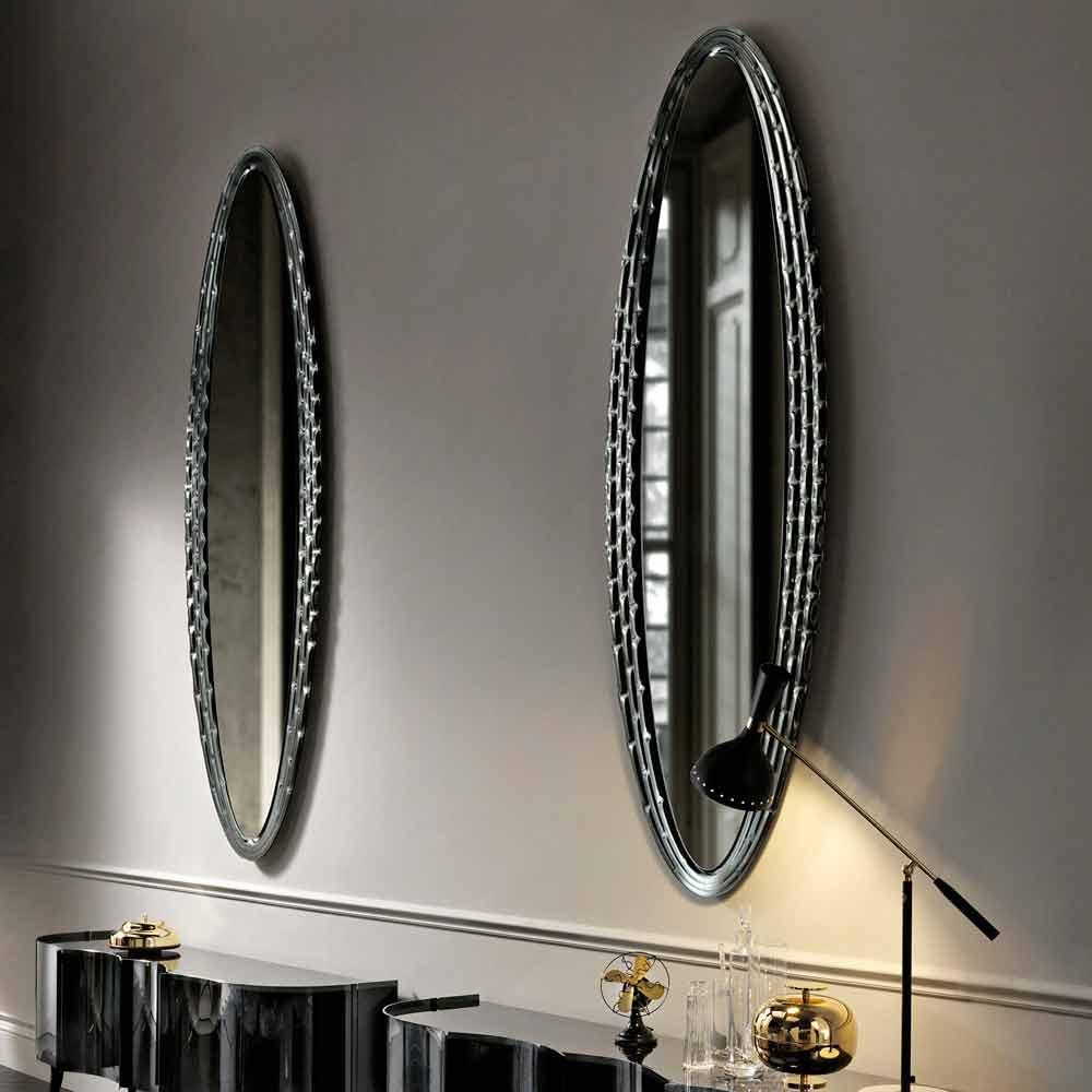 Fiam vebl n miroir elliptique de design fait en italie for Miroir elliptique