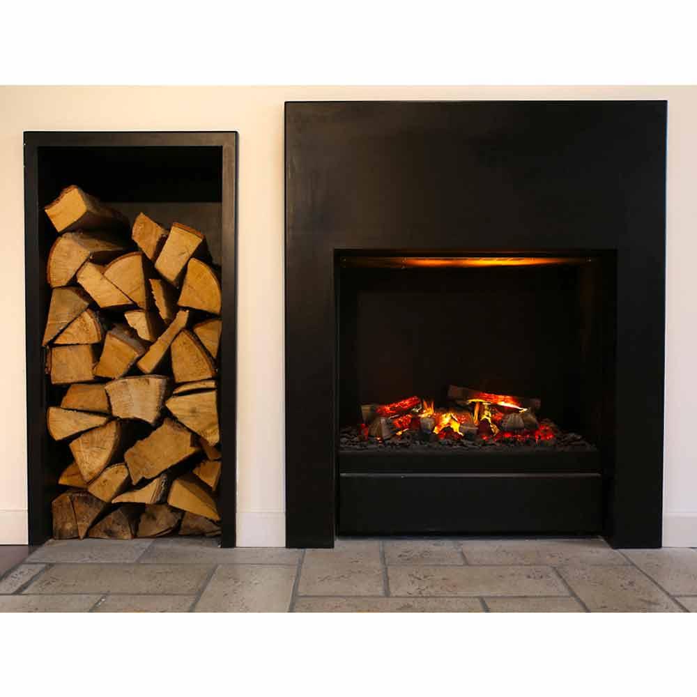 chemin e lectrique encastrable newport effet flamme et. Black Bedroom Furniture Sets. Home Design Ideas