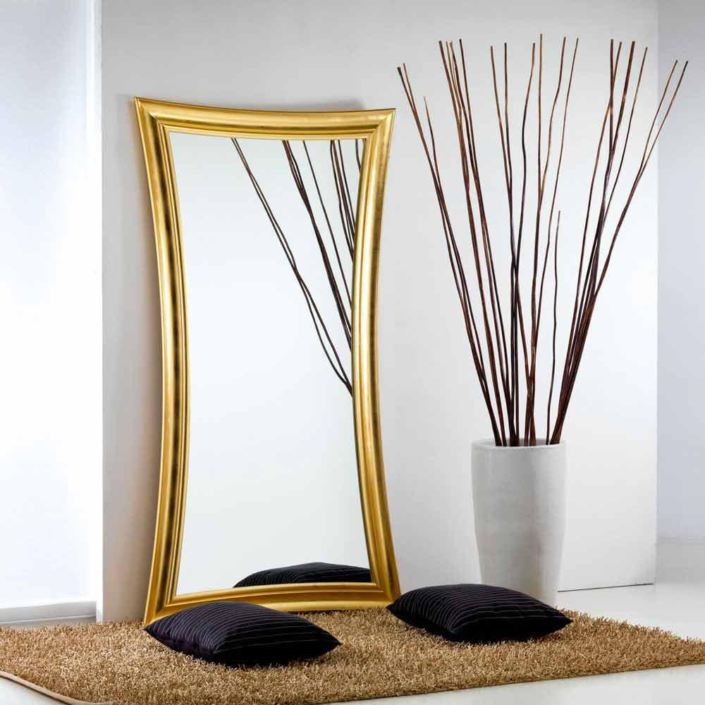 Gran miroir de sol mural design moderne heart 110x197cm for Miroir vertical mural