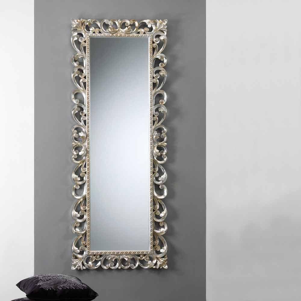 Grand miroir vertical mural avec cadre d cor paris for Miroir vertical mural design
