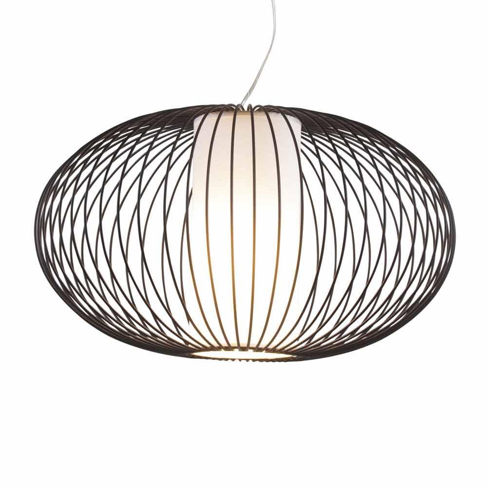 lampe suspension en acier peint l c ble 100 cm. Black Bedroom Furniture Sets. Home Design Ideas
