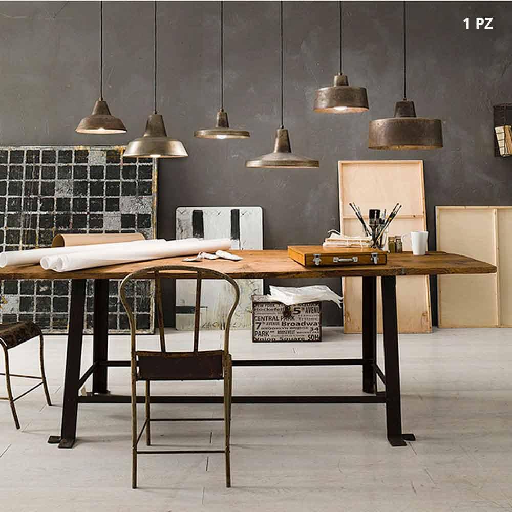 suspension luminaire cloche en fer vieilli virginia ii fanale. Black Bedroom Furniture Sets. Home Design Ideas