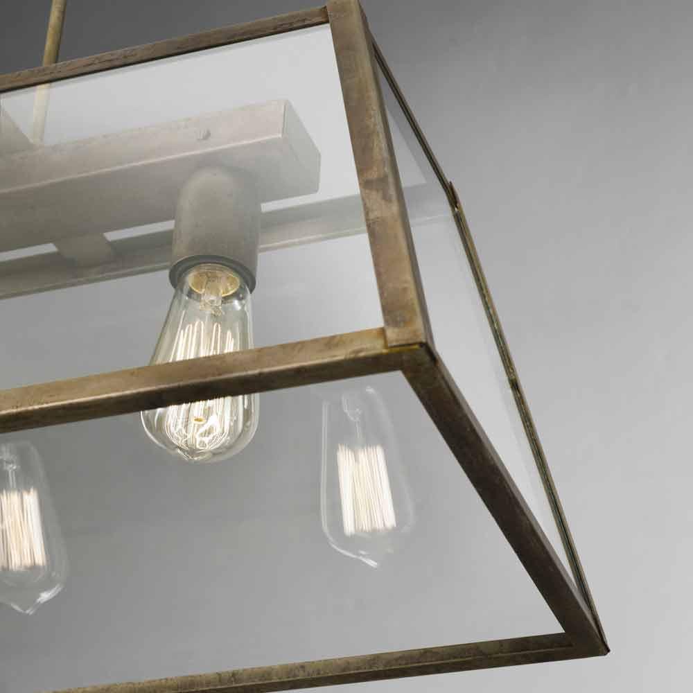 suspension en verre et fer style industrielle london il fanale. Black Bedroom Furniture Sets. Home Design Ideas
