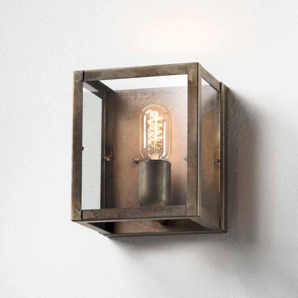 Applique industrielle en verre et fer london il fanale for Applique da parete ikea