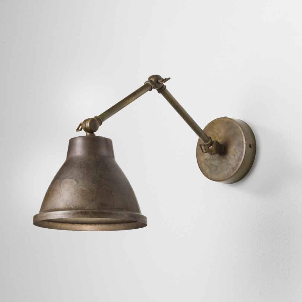 Applique industrielle vintage en fer et laiton loft il fanale for Applique exterieur vintage