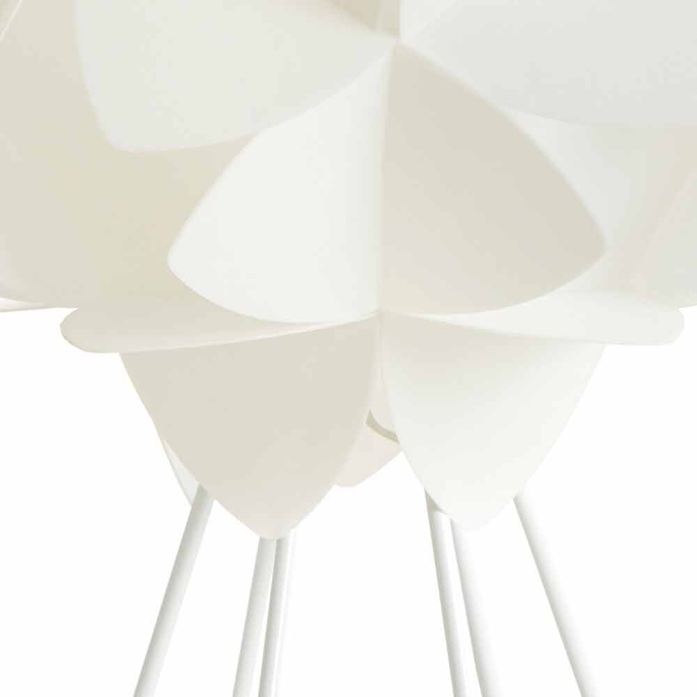 lampe de bureau design moderne blanc perle diam tre 46 cm kaly. Black Bedroom Furniture Sets. Home Design Ideas