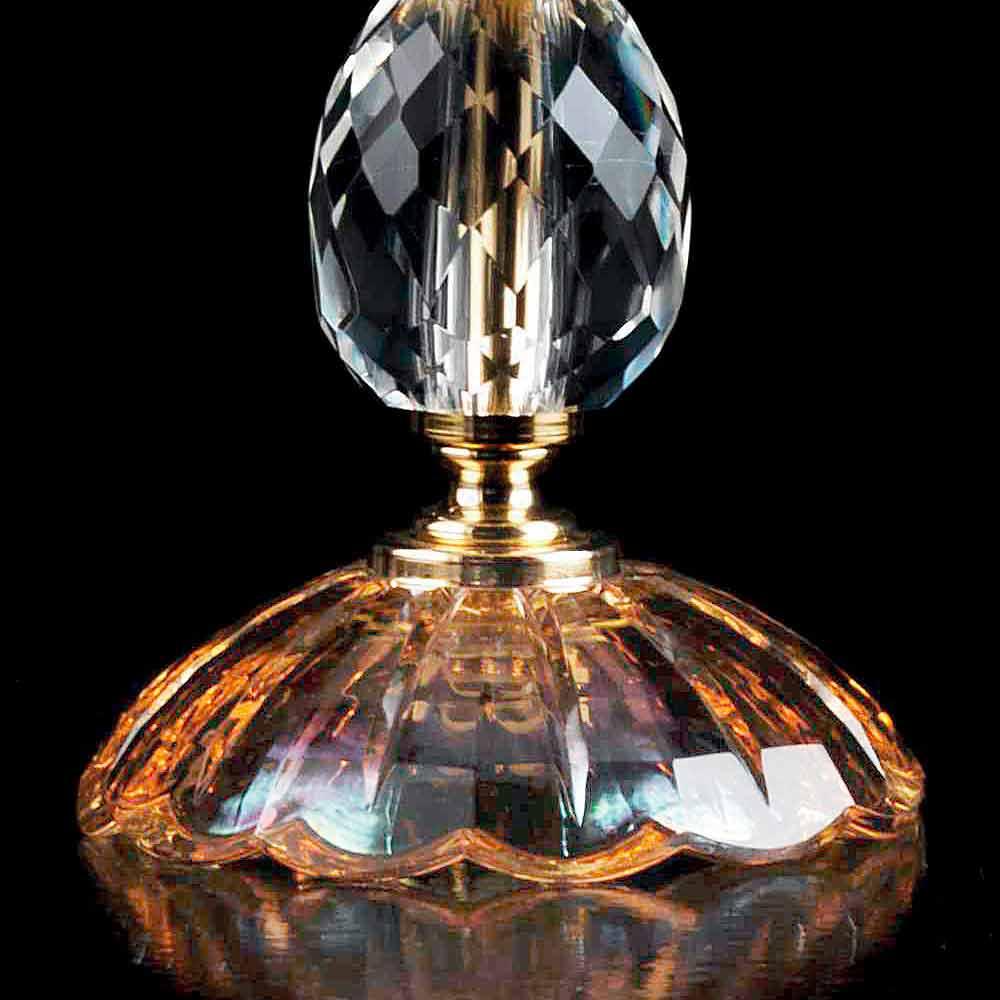 lampe de table en cristal et verre belle faite en italie. Black Bedroom Furniture Sets. Home Design Ideas