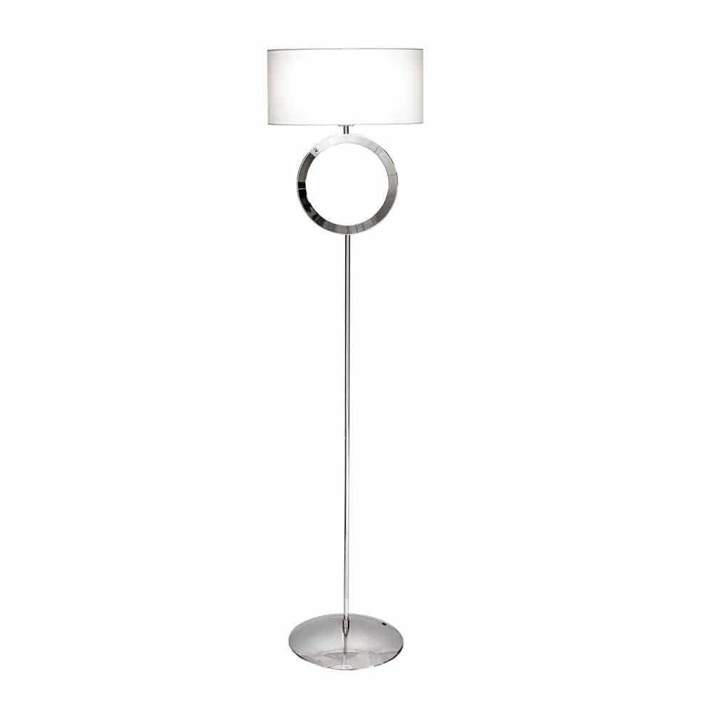Lampe de sol ena cier avec abat jour blanc hmax 149 5 cm moon - Abat jour pour lampe de sol ...