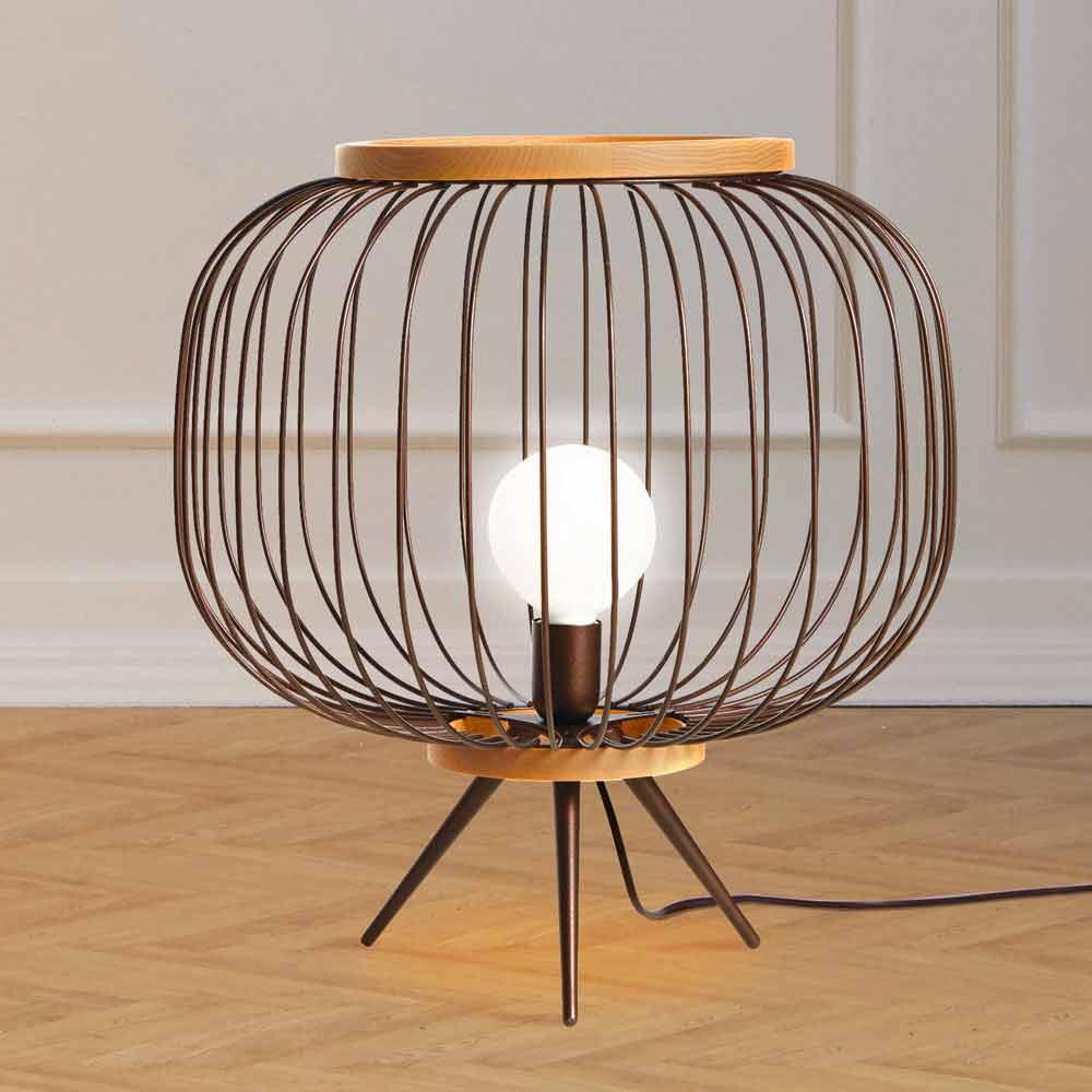 Lampe De Sol De Design Moderne En Acier 48xh 52 Cm Leira
